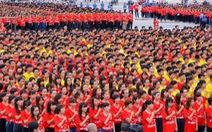 12.000 bạn trẻ Hà Nội cùng xếp hình tổ quốc