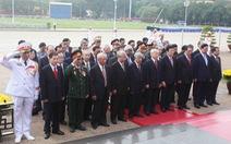 Lãnh đạo Đảng, Nhà nước viếng Chủ tịch Hồ Chí Minh và các liệt sĩ