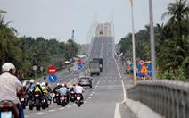 Sau thông cầu Cổ Chiên, xe qua quốc lộ 60 tăng
