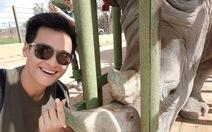 Hà Anh Tuấn chia sẻ hình ảnh bảo vệ tê giác