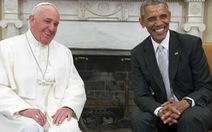 Giáo hoàng hội đàm với ông Obama tại Phòng Bầu Dục