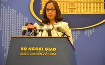 Việt Nam kiên quyết phản đối hoạt động xây dựng ở Biển Đông