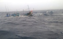 Tàu cá cùng 15 ngư dân trôi dạt trên vùng biển Hoàng Sa