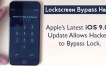 """Apple """"quên"""" lỗi màn hình khóa trongiOS 9.0.1"""