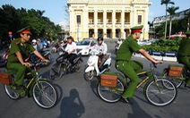 Tăng cường 1.000 xe đạp cho công an Hà Nội đi tuần