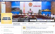 """Mới ra 1 ngày, trang """"thông tin Chính phủ"""" trên facebook bị """"nhái"""""""