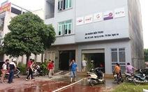 Đục tường để dập lửa cháy tòa nhà VTVcab Nghệ An