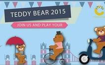 """Chụp hình """"tự sướng"""" với gấu Teddy khổng lồ và làm từ thiện"""