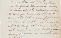 Bản thảo viết tay của Lincoln bán được 2,2 triệu USD
