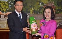 Đoàn TNCS Trung Quốc thăm Thành ủy Hà Nội