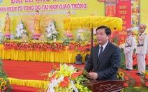 Bộ trưởng Thăng dự lễ cầu siêu nạn nhân tai nạn giao thông