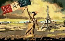 Bạn đọc vẽ hình đưa lên Facebook, Twitter...lên án khủng bố Paris