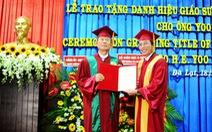 Trao tặng ông Yoo Tae Hyundanh hiệu giáo sư danh dự