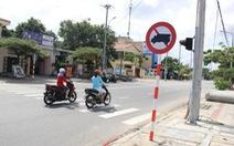 Tạm dỡ biển cấm trên đường Mai Đăng Chơn