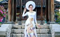 Ngắm áo dài của Lệ Quyên dự thi Hoa hậu Siêu quốc gia