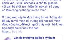 """Hoãn họp vụ """"giảng viên chê trường trên facebook"""""""