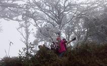 Băng giá phủ trắng đỉnh Pia Oắc, Sa Pa