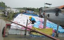 Đụng sà lan, ghe chở 130 tấn thức ăn gia súc chìm sông