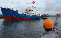 Hạ thủy tàu vỏ thép dịch vụ nghề cá Hoàng Sa