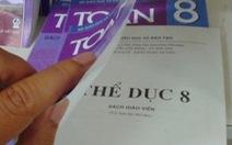 Sách giáo khoa cho giáo viên: bìa sách toán, nội dung thể dục
