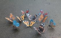 """""""Vườn thú"""" mini làm từ mảnh kim loại"""