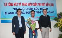 Báo Tuổi Trẻ đoạt giải nhất giải báo chí đề tài HIV/AIDS
