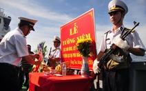 Tưởng niệm các anh hùng liệt sĩ hi sinh trên biển