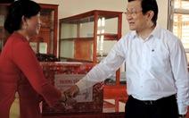 Chủ tịchnước thăm và chúc tết tại tỉnh Vĩnh Long