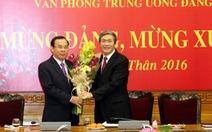 Ông Nguyễn Văn Nên nhận nhiệm vụ Chánh Văn phòng Trung ương Đảng
