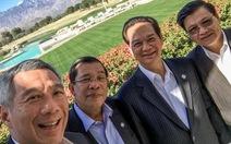 """Thủ tướng Singapore """"selfie"""" cùng Thủ tướng Nguyễn Tấn Dũng"""