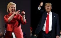 Bà Clinton, ông Trump thắng bầu cử sơ bộ