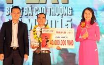Tiền đạo Abass Dieng giành giải thưởng Fair Play 2015