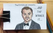 Độc đáo: xem clip tranh vẽ Leonardo DiCaprio nhận giải Oscar 2016