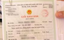 Hết mẫu giấy khai sinh để cấp cho dân