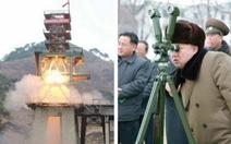 Ông Kim Jong Un thị sát tập trận,bắn tên lửa
