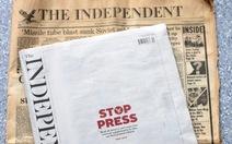 Tờ The Independent của Anh ngừng phát hành báo giấy