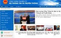 Cổng thông tin điện tử Bộ TT&TT cung cấpdịch vụ công