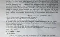 Đề thi lớp 12 môn ngữ văn đưa Bình Thuận xuống... ĐBSCL
