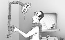 Trời nóng tắm nước ấm