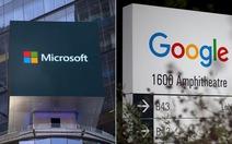 """Microsoft và Google thỏa thuận """"chung sống hòa bình"""""""