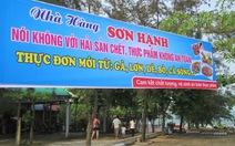 """Nhà hàng Quảng Bình căng biển """"Nói không với hải sản chết"""""""