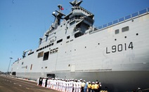 Chiến hạm đầu tiên của Pháp trở lại Cảng quốc tế Cam Ranh
