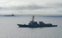 Tàu chiến Mỹ đi vào khu vực 12 hải lý Đá Chữ Thập