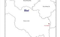 Động đất 2,5 độ richter tại A Lưới