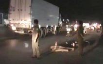 Truy tìm xe container cán chết người trong đêm rồi bỏ trốn