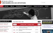 VIASM thưởng 86 công trình toán học có công bố quốc tế