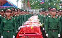 Truy điệu, an táng 65 liệt sĩ Việt Nam hi sinh tại Lào