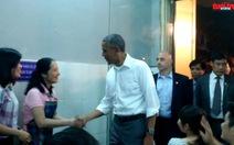 Video clip tổng thống Obama tại quán bún chả Hà Nội