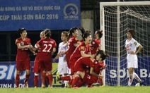 Phong Phú Hà Nam vô địch lượt đi bóng đá nữ