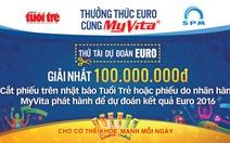 Dự đoán EURO để có cơ hội nhận 100 triệu đồng từ MyVita